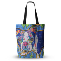 "Rebecca Fischer ""Addy Mae"" Pug Terrier Tote Bag, 13"" x 13"" - Outlet Item"