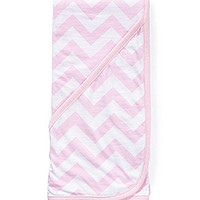 Starting Out Chevron Stripe Blanket - Light Pink ONE
