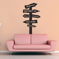 Fantasy Road Sign Wall Decal - No 8