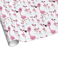 Cute Pink Flamingos Wrapping Paper