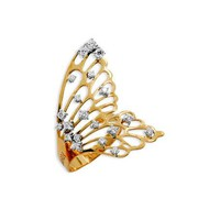 Staurino Fratelli 18k Rose Gold Half Butterfly Diamond Ring
