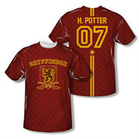 Harry Potter 07 Gryffindor Quidditch Allover Print Adult T-shirt | HarryPotterShop.com