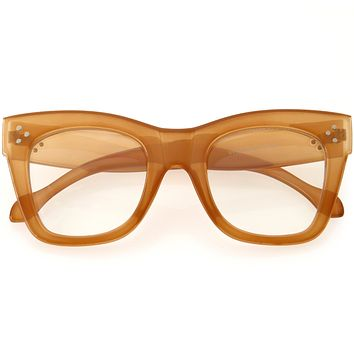 High Fashion Horn Rimmed Blue Light Protected Chunky Glasses D293