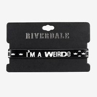 """Licensed cool Riverdale Jughead Rubber bracelet """"I'm a Weirdo"""" Crown LOGO Hot Topic Exclusive"""