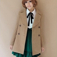 Lapel Long-Sleeve Coat