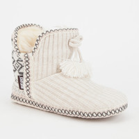Muk Luks Amira Womens Slippers Ivory  In Sizes