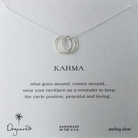 """Karma Necklace 18"""" in Silver"""