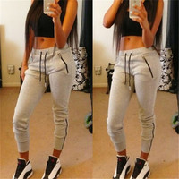 Sportswear Jogging Running Gym Yoga Exercise Women Casual Sport Zipper Trousers Pants _ 6147
