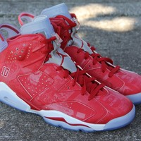 Air Jordan Retro 6 Slam Dunk Varsity Red with Box Men Women Size Basketball Shoes