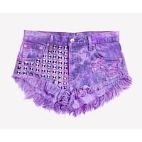 Bel Air Purple Studded Babe Shorts