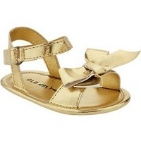 Metallic Bow-Tie Sandals for Baby   Old Navy