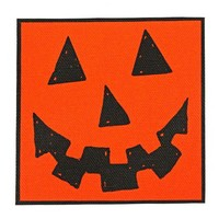 Jack-O-Lantern Large Fabric Patch