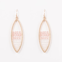 Leaf Drop Pink And Gold Earring