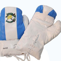 16oz Guatemala Flag Boxing Gloves