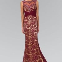 Long evening gown & lace formal dress  GL1415