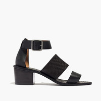 The Warren Sandal in Embossed Leather
