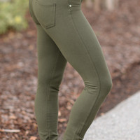 Perfect Fit Jeggings Olive