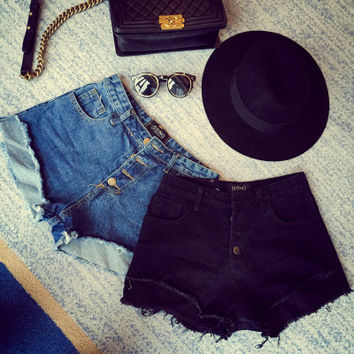 High Waist Ripped Holes Slim Denim Skinny Sexy Shorts