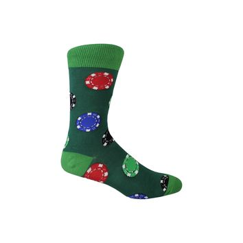 Ante Up Crew Socks in Hunter Green
