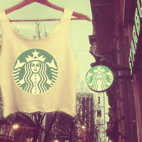 Starbucks Style Coffee Preferences Crop Top