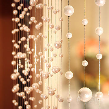 10 meters Pearl Acrylic beads curtain can be customized crystal curtain window door curtain passage wedding backdrop