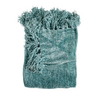 Susan Denim Chenille Throw