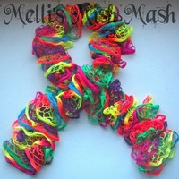 Neon Ruffle Scarf from Melli's Mish Mash