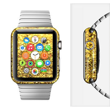 The Gold Glimmer Full-Body Skin Set for the Apple Watch