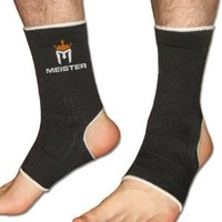 Muay Thai MMA Ankle Support Wraps (Pair) - Black