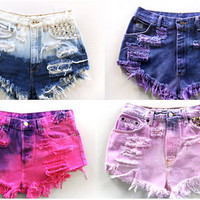 Dip Dyed Shorts by CosmicKiddd on Etsy