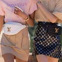 Louis Vuitton LV Women Shopping Leather Purse Waist Bag Single-Shoulder Bag
