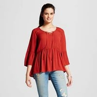 Women's Peasant Top - Mossimo Supply Co.™ (Juniors')