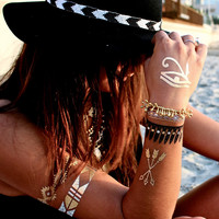FREE SPIRIT GOLD TEMPORARY TATTOO SET