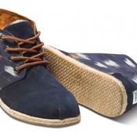 TOMS+ Navy Ikat Men's Botas