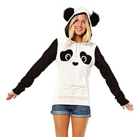 Scololur Camiseta Blusa 2016  Womens Long Sleeve Cute Panda Pocket Hoodie Sweatshirt Hooded Pullover Tops Blouse Free Shipping
