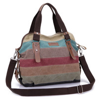 Famous Brand Women Patchwork Handbags Canvas Shoulder Messenger Bags Beach School Travel Shopping Casual Tote pouch Bolsos Mujer