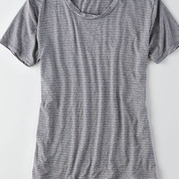AEO Women's Don't Ask Why Oversized T-shirt (Blue)