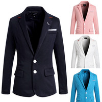 Two Buttons Mens Fashion Casual Blazer