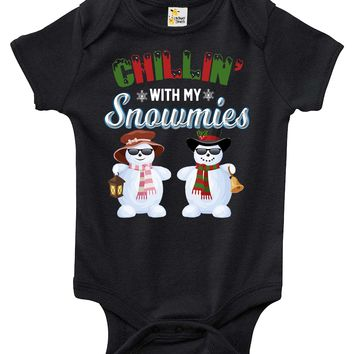 Baby Bodysuit - Chillin' With My Snowmies