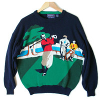 Hathaway Creeper Caddy Mens Tacky Ugly Golf Sweater
