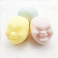 Funny Face Ball Squishy Toys Stress Reliever Gift Rich Funny Facial Expressions Vent Ball Toys