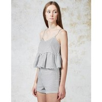 Hearts and Bows Woven Skater Cami Top
