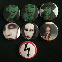 """MARILYN MANSON 1"""" buttons"""
