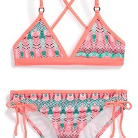 Girl's Hurley Two-Piece Swimsuit