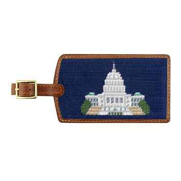 Capitol Needlepoint Luggage Tag by Smathers & Branson