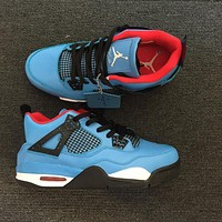 Air Jordan 4 Blue Men Basketball Shoes