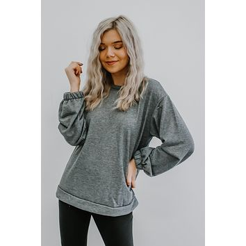Chill Day Top - Heather Grey