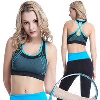 With Steel Wire Stylish Vest Jogging Gym Yoga Underwear Sports Bra [8923431686]