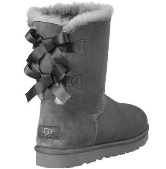 Image of UGG Bow Leather Shoes Boots Winter Half Boots Shoes