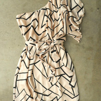Chic Geometric Angles Dress [3082] - $38.00 : Vintage Inspired Clothing & Affordable Summer Frocks, deloom | Modern. Vintage. Crafted.
